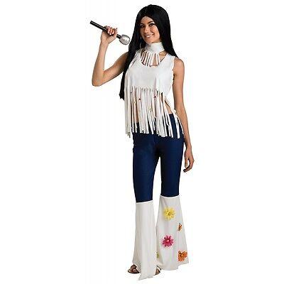 Rockstar Halloween (Rockstar Girl Hippie Cher Costume Halloween Fancy Dress)