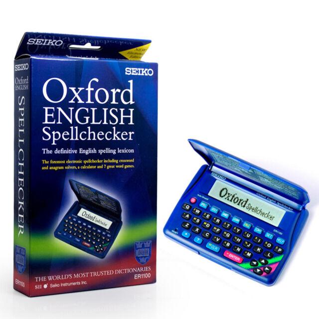 Seiko Electronic Spell Checker Crossword Anagram Solver Calculator Games ER1100