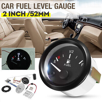 52mm Car Digital Fuel Level Gauge Oil Meter Measure Sender Fuel Sensor Pointer