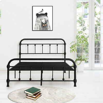 Chic Farmhouse Victorian Classic Rustic Country Style Iron Bed Frame Full