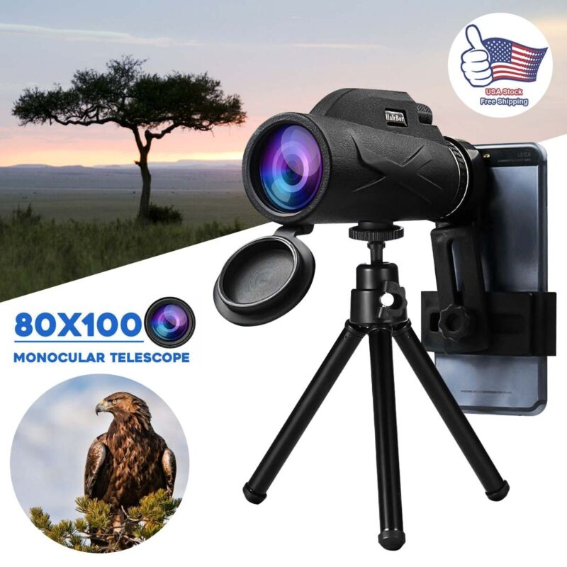Monocular  Zoom Portable Prism HD Optical Monocular Telescope with Phone Clip