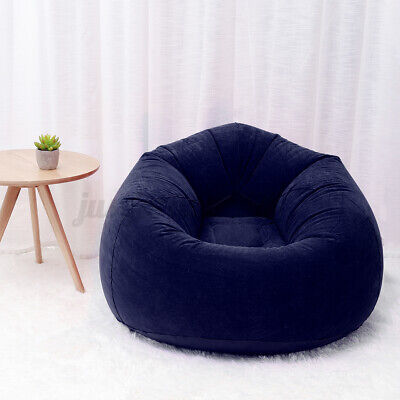 Inflatable Large Bean Bag Chair Sofa Lazy Lounger Indoor Home Comfy 43x33 inch