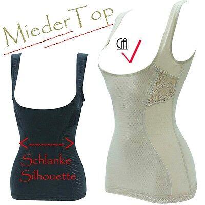 Shapewear Bauchweg Figur Hemd Mieder Top Formend Bodyformer Slim Body WRAP S M L