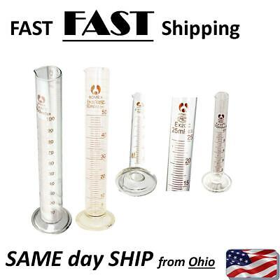Graduated Glass Measuring Cylinder Chemistry Laboratory Measure