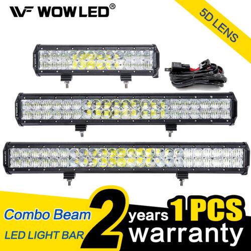 WOW - 72W 126W 144W 5D Lens CREE LED Light Bar Flood Spot Combo Driving Lamp 4X4