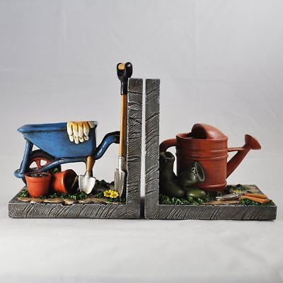 Gardening Bookends Office School Desk Book Ends Decorative Bookshelf Display