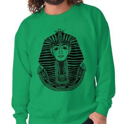 Ancient Egypt Pharaoh Scarab Symbolic Gift Crewneck Sweat Shirts (Pharaoh Sweatshirt)