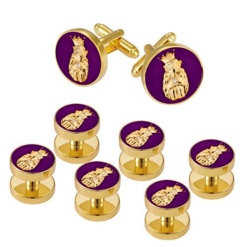 4031849 Royal Order of Jester Cuff Links Set 6 Shirt Studs Tuxedo Billiken Roj