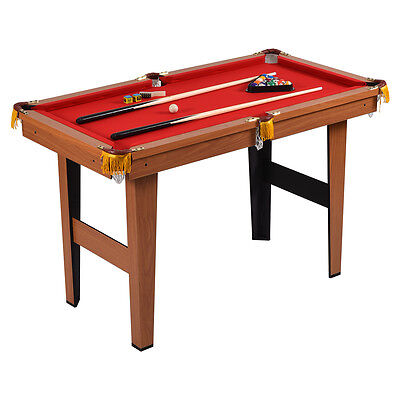 "48"" Mini Table Top Pool Table Game Billiard Set Cues Balls Gift Indoor Sports"