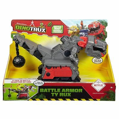 New Dinotrux Talking Battle Armor Ty Rux Chomps & Speaks Phrases Official