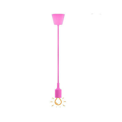 Portalámparas A Colgante Lámpara de Araña Techo De E27 Rosa DT-J02