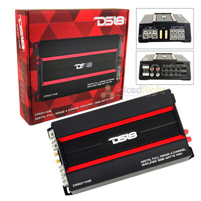DS18 CANDY CANDY-X4B 1600 Watts Max 4 Channel Amplifier Car Audio Mini amp