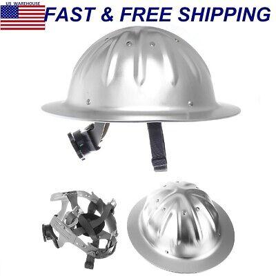 Full Brim Construction Hard Hat Helmet Safety Protection Lightweight Aluminum