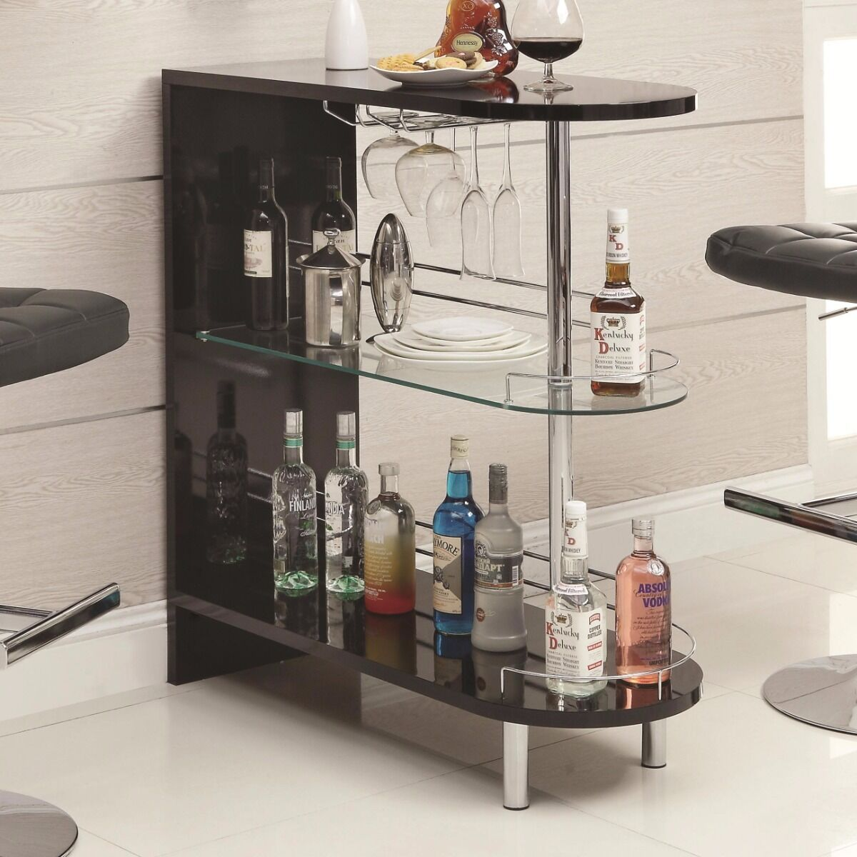 $179.98 - Coaster Home Furnishings Contemporary Bar Table, Black