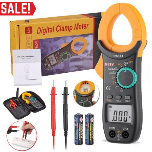 Digital Clamp Meter Tester AC / DC Volt Amp Multimeter Auto Ranging Current 600A