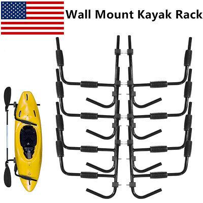 4 Pairs Kayak Ladder Wall Mount Storage Rack Surfboard Canoe Folding Hanger