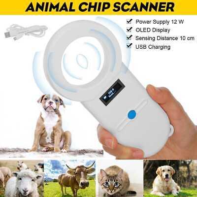 Pet Microchip Rfid Reader Rechargeable Oled Usb Animal Handheld Portable Scanner