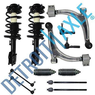 Front Struts Lower Control Arm Sway Bar Tie Rod 12pc Kit Chevy Malibu Pontiac -