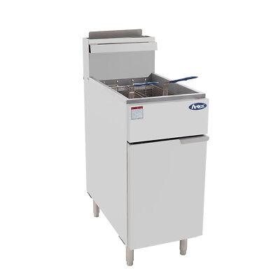 Atosa Atfs-50 Hd 50lb Ss Commercial Kitchen Natural Gas Deep Fryer
