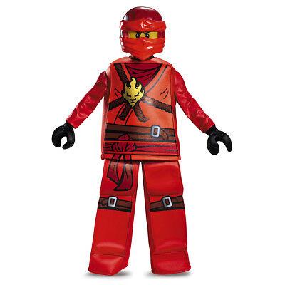 Kai Prestige Ninjago Red LEGO Child Costume | Disguise 99084 (Ninjago Costumes Kai)