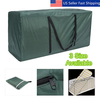 Heavy Duty Waterproof Garden Furniture Cushion Storage Bag Carry Cover