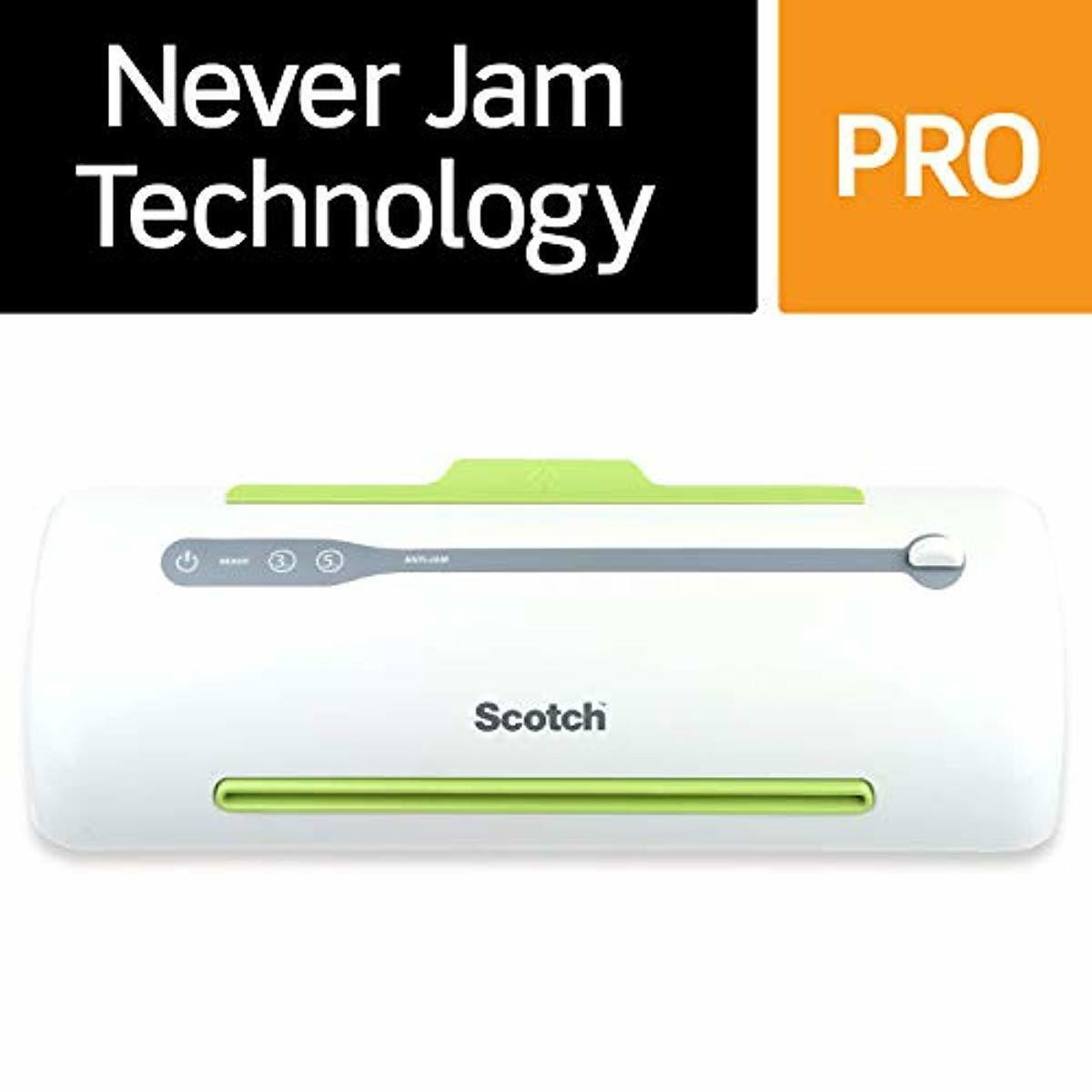 Scotch Pro Thermal Laminator, Never Jam Technology Automatic