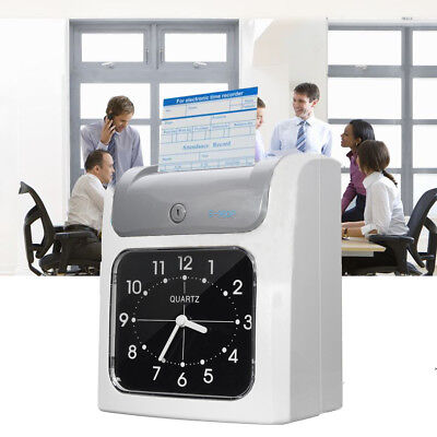 Employee Attendance Punch Time Clock Payroll Recorder Lcd Display Card 2020