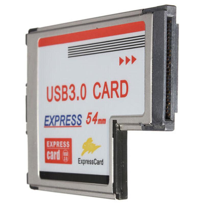 2 Port Hidden USB 3.0 HUB to Express Card ExpressCard 54mm Adapter US Warehouse