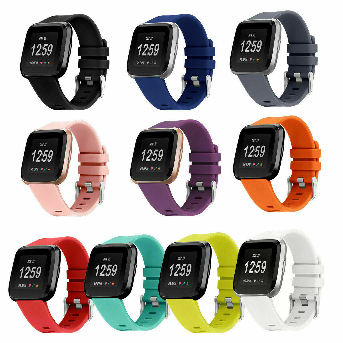 Jewellery - Replacement Strap Silicone Band Bracelet for Fitbit Versa 2/Versa Lite/Versa 1
