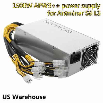 Original AntMiner APW3++ PSU 1600W Power Supply for Antminer 100V