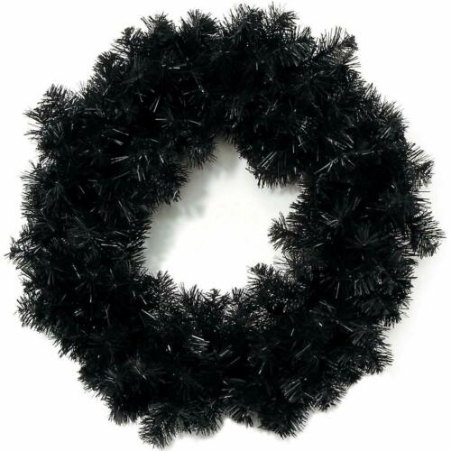"24"" Perfect Holiday Christmas Black Halloween Wreath"