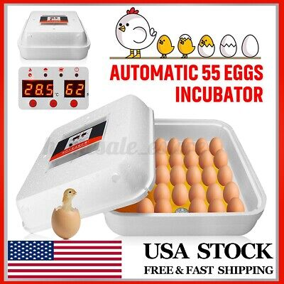55 Digital Automatic Eggs Duck Incubator Temperature Control Chicken Turning