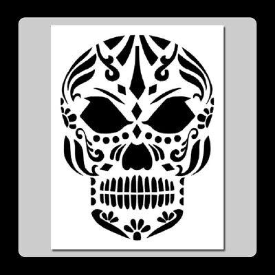 7 X 9 Evil Sugar Skull Face STENCIL Day of the Dead/Mexican Halloween/Death - Evil Halloween Stencils