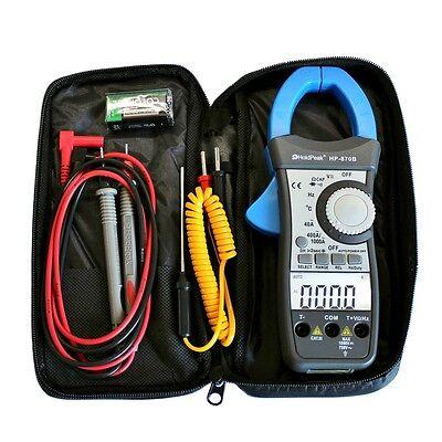 AC Stromzange Zangenamperemeter Zangen Multimeter °C Hz F  2x LCD bel. HP-870B