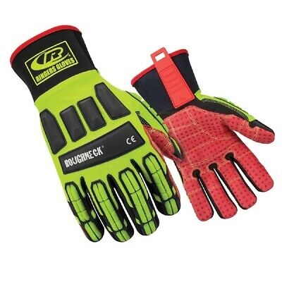 Ringers Gloves 267-07 Roughneck Hi-vis Impact Resistant Work Gloves - X-small