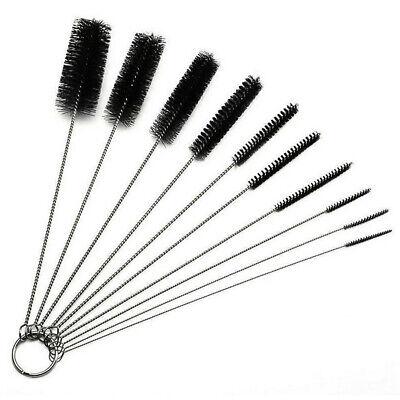 10Pcs Set Nylon Straw Brush Cleaner Bottle Tube Pipe Small Long Cleaning Kit ()