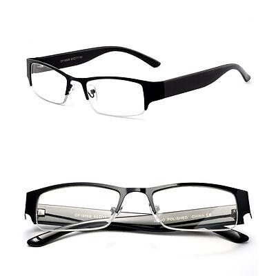 Unisex Half Frame Business Design Clear Lens Non Prescription (Mens Non Prescription Designer Glasses)