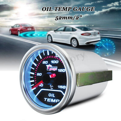 2'' 52MM UNIVERSAL CAR LED OIL TEMP TEMPERATURE GAUGE & SENSOR POINTER
