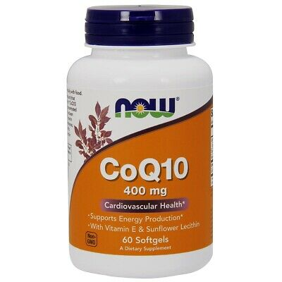 CoQ10 400 mg w/ Lecithin & Vitamin E 60 Softgels