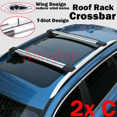 "36.5""~39"" Universal Aluminum Auto SUV Car Roof Top Cross Bars Luggage Cargo Rack"