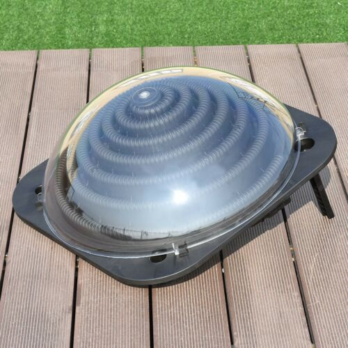 black outdoor solar dome inground and above