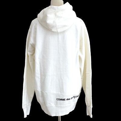 Supreme x comme des garçons 2018 logo sweat-shirt blanc # m 03838