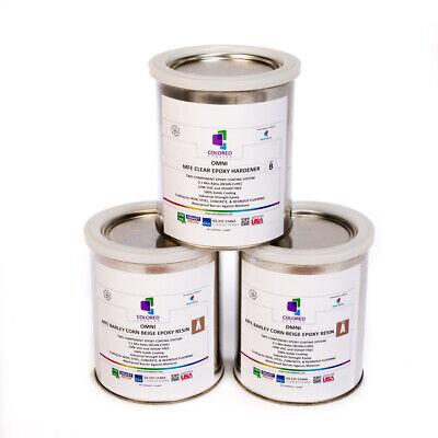 Beige Epoxy Resin 100 Solids For Garage Floorplywoodconcrete. 3 Quart Kit