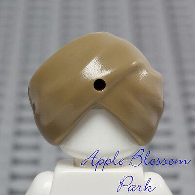 NEW Lego Minifig Dark TAN SHEIK TURBAN - Snake Charmer Head Gear Hat Cap 7570