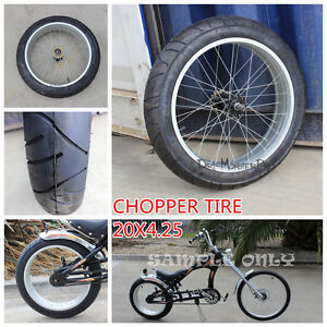 20 INCH 20X4.25 WHEEL SLEEK TYRE ALLOY RIM CUSTOM HARLEY  CHOPPER BIKE BICYCLE