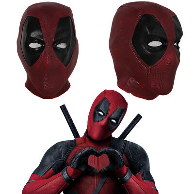 Deadpool Cosplay Mask Full Head Helmet Latex Costume Props Halloween Party Adult