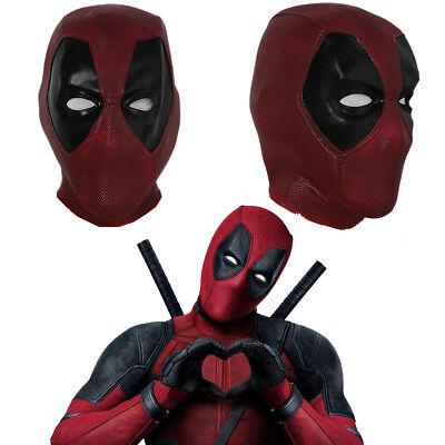 Deadpool Halloween Mask (Deadpool Cosplay Mask Full Head Helmet Latex Costume Props Halloween Party)