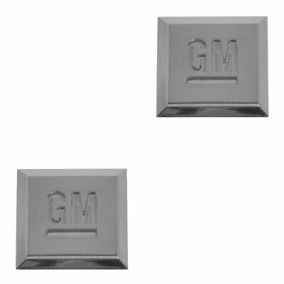 OEM GM Mark Of Excellence Emblem Chrome Pair Set for Buick Cadillac Chevy GMC
