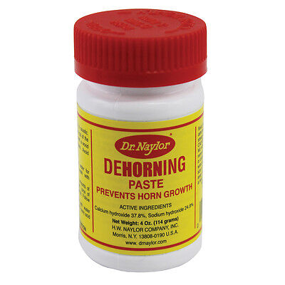Dr Naylors Dehorning Paste Prevents Horn Growth Cattle Sheep Goats 4oz.