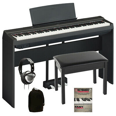 Yamaha P-125 Digital Piano - Black COMPLETE HOME BUNDLE
